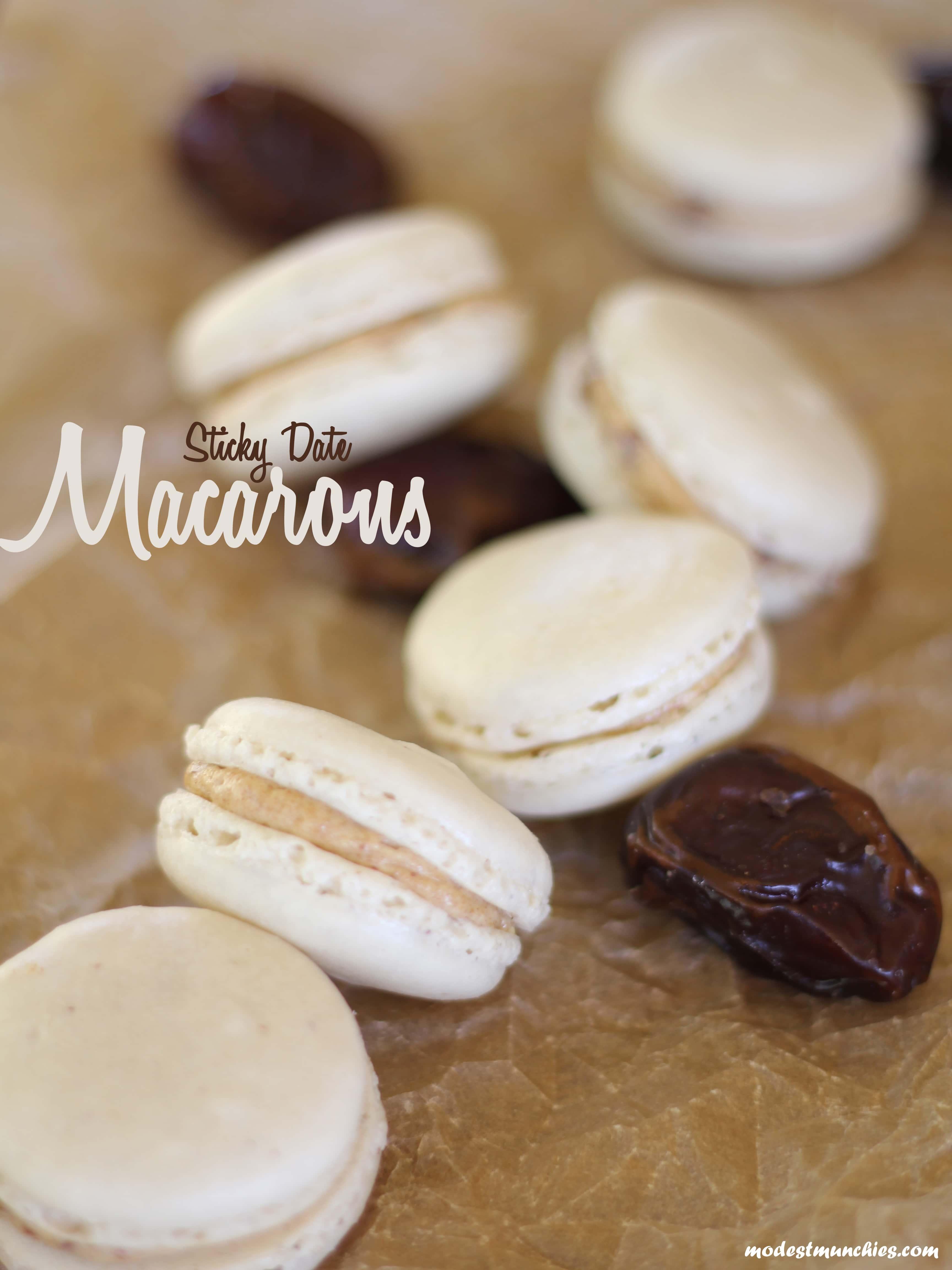 Sticky Date Macarons