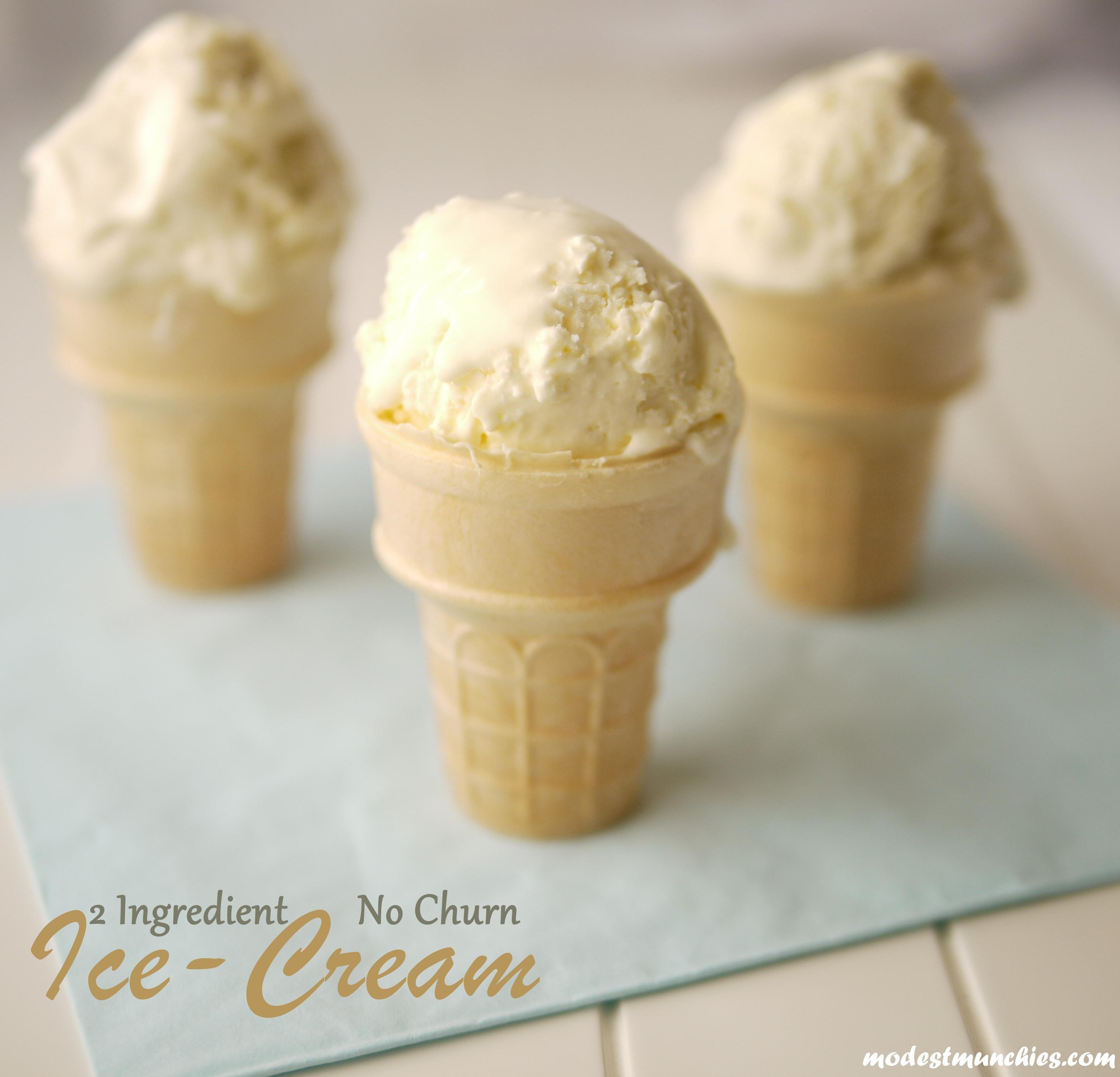 2 Ingredient no churn ice cream