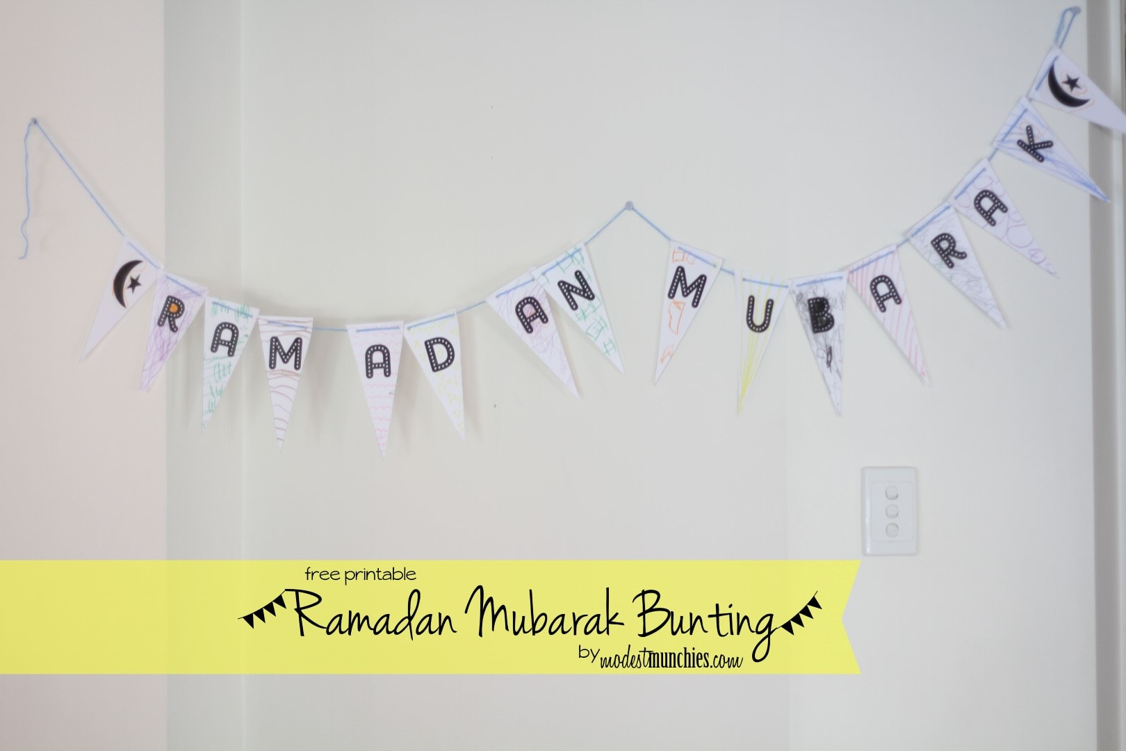 Ramadan Mubarak Bunting Printable (Large)