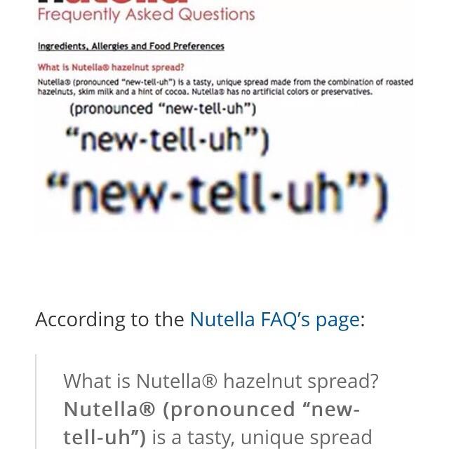 Tell me it isn't true! ? #nutellanotnewtella